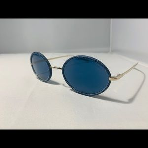 NEW $485! CHANEL Round Blue Denim Sunglasses 4248J